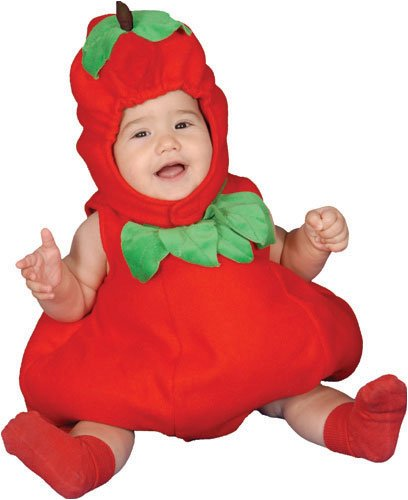 [Dress Up America Baby Apple, Red, 6-12 Months] (Childrens Food Halloween Costumes)
