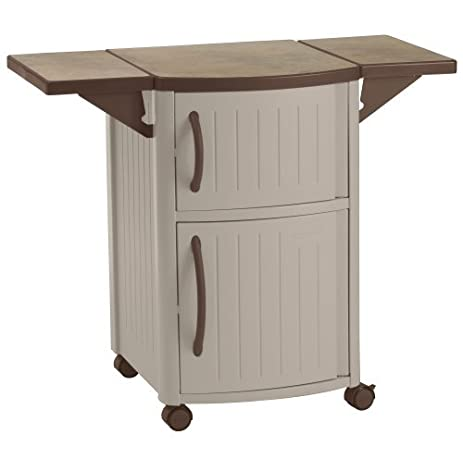 Premium Outdoor Patio Furniture Resin Storage Deck Prep Station For  Grilling In Suncast Small Design