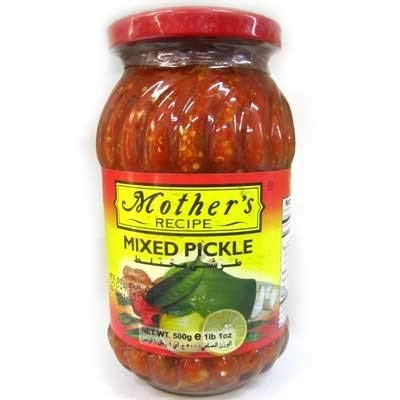 (Mothers Recipe Mixed Pickle - 17.64oz., 500g.)