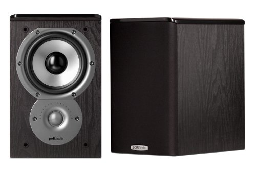 Polk Audio TSi100 Bookshelf Speakers (Pair, Black) by Polk Audio