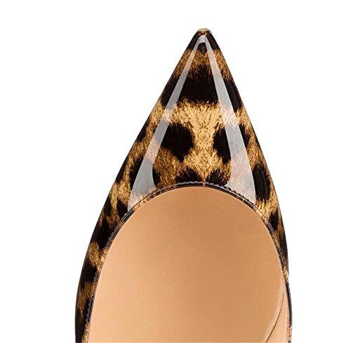tacco scarpe Sleopard bocca modello leopard banchetto semplici 38 alto XIE profonda della punta scarpe Womens poco discoteca 40 sexy aguzza LEOPARD Ixqnt0