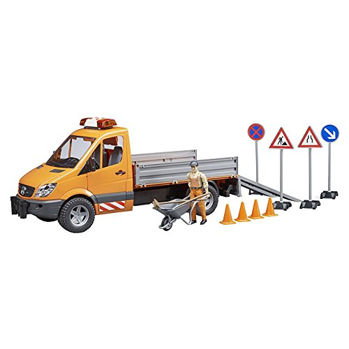 - Bruder MB Sprinter Municipal with L&S Module, Worker + Accessories Vehicles - Toys
