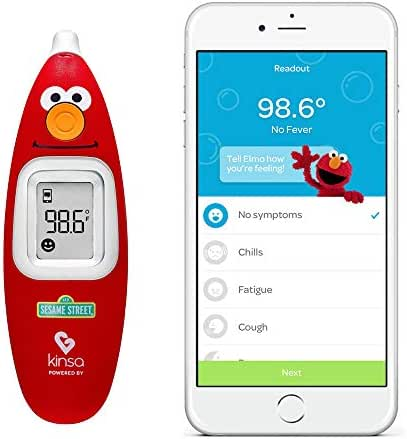Kinsa Smart Ear Thermometer for Fever - Accurate, Fast, FDA Cleared Thermometer - Best Digital Medical Children, Kid, Adult and Baby Termometro - Sesame Street