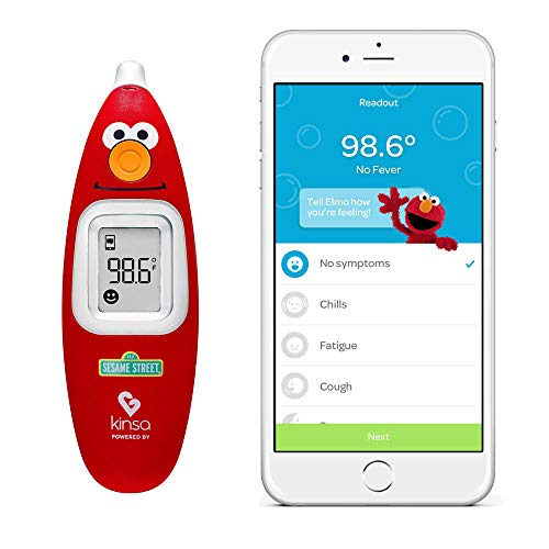 Kinsa Smart Ear Thermometer for Fever – Accurate, Fast, FDA Cleared Thermometer – Best Digital Medical Children, Kid, Adult and Baby Termometro – Sesame Street