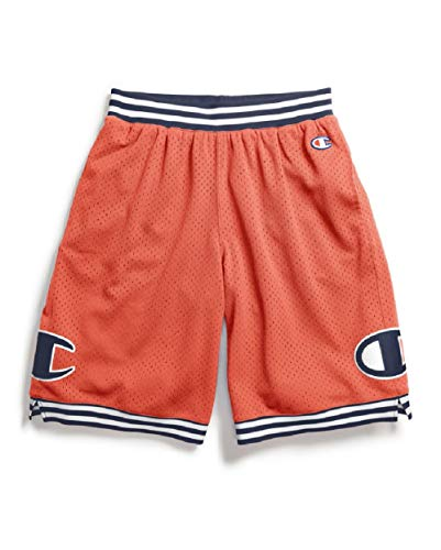 Champion Life Men's Rec Mesh Athletic Short (C Patch/Groovy Papaya, Medium)