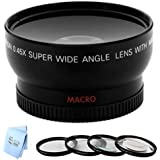 67mm Wide Angle Lens + 4PC Macro Close-Up Set for Canon T3i, T3, 20D, 5D, 300D