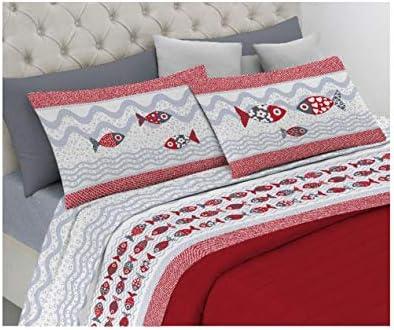 Alambra - Juego de sábanas, par de sábanas para cama de matrimonio ...
