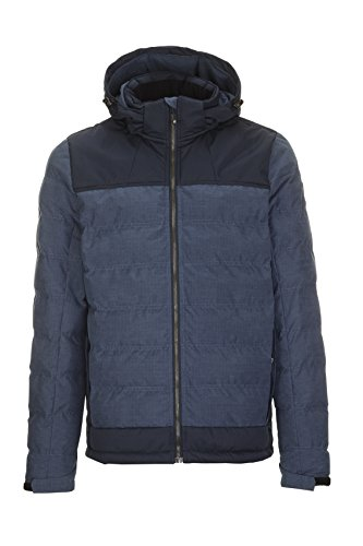 Look Killtec in Zip Men's Down indigo Jacket with Hood Off Ninou pwrpqX1