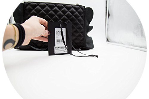 Mia Bag Pochette Clutch Trapuntata con Rouches Nero Muy En Venta Con Paypal En Venta Con Paypal En Línea Barata Tienda Online Venta Barata Sitio Oficial TfBXT7