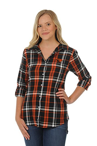 UG Apparel NCAA Oregon State Beavers Women's Boyfriend Plaid
