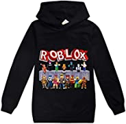 BackStri Boys Girls Roblox Hoodies Pullover Hooded Tops for Kids Sweatshirts