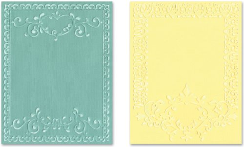 Sizzix Textured Impressions Embossing Folders 2/PK - Ornate Frames Set by Rachael Bright by Sizzix