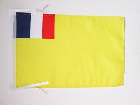 FLAGGE FRANZÖSISCHES SAARLAND PROTEKTORAT 1947-1956 45x30cm mit kordel SAARLAN