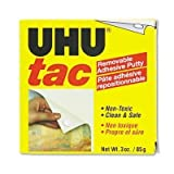 UHU - Tac Adhesive Putty, Removable/Reusable, Nontoxic - 3 oz. Each by Uhu