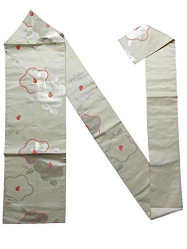 発火するキャロライン発疹リサイクル 名古屋帯 古典 椿模様 正絹