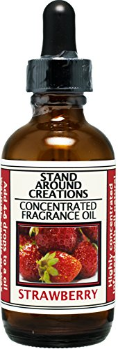 Concentrated Fragrance Oil - Scent - Strawberry: Fresh, juicy notes of vine ripe strawberries Made w/natural essential oils. (2 fl.oz.) by Stand Around Creations