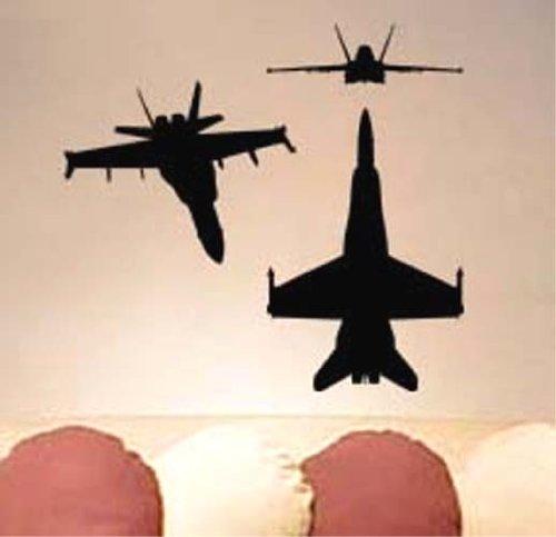 (F-18 Hornet Carrier Plane F/A-18 Vinyl Wall Art Sicker Decal Many Colors)