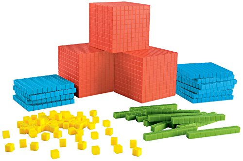 Value Blocks Place - Learning Resources Brights Base Ten Classroom Set