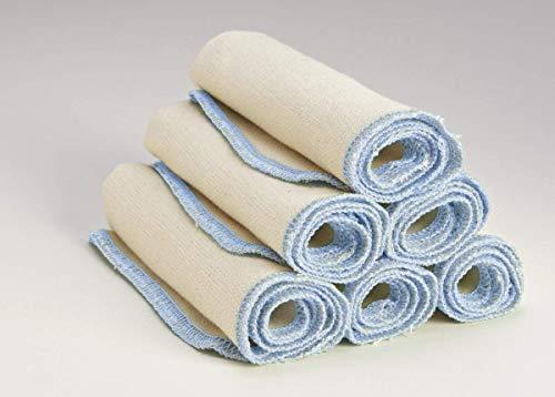 Environmentally Friendly Clothes - City Threads Organic Cotton Kitchen Towels Absorbent, Reusable, Environmentally Friendly All-Purpose Cleaner Dishcloths Dishtowels - Set of 6, Regular, Light Blue