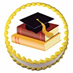 1/4 Sheet ~ Graduation Hat & Books ~ Edible Cake/Cupcake Topper!!!