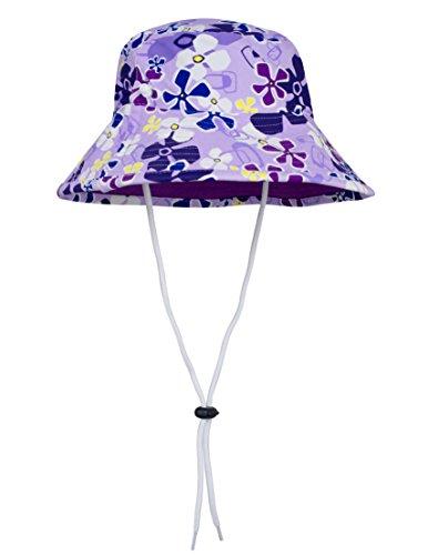 Hat Girls Bucket - Tuga Girls Reversible Bucket Sun Hat (UPF 50+), Playtime, Medium