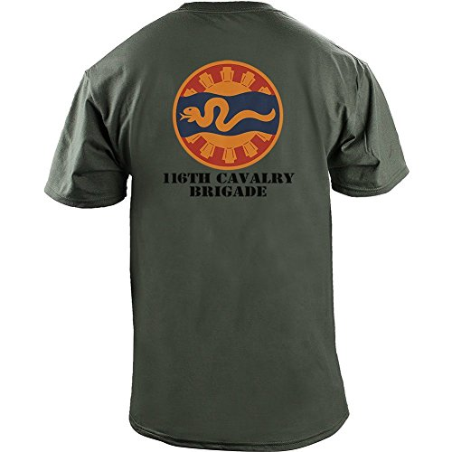 Brigade Fitted T-shirt - Army 116th Cavalry Brigade Full Color Veteran T-Shirt (M, Green)