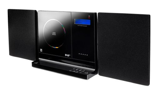 Dual Vertical DAB 101 Stereo Kompaktanlage mit Digitalradio (DAB+/UKW-Tuner, CD-Player, Weckfunktion, 3,5mm Klinke , SD-Kartenslot, USB) schwarz
