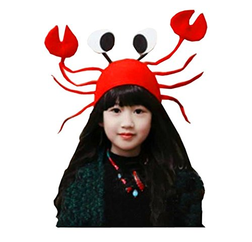 (Kangkang@ Birthday Christmas Fun Cute Upmarket Red Crab Hat/party)