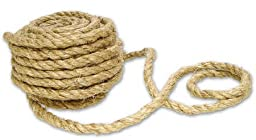 50 Feet of Thick and Chunky 100% All Natural Sisal Rope for Crafting, Creating and Embellishing
