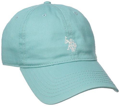 U.S. Polo Assn. Women's Washed Baseball Cap, Curved Brim, Adjustable, Light Blue, One Size (Polo Cap Lady)