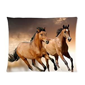 "Running Horse One Side Rectangle Pillowcase Pillow Cover 20""x26"""