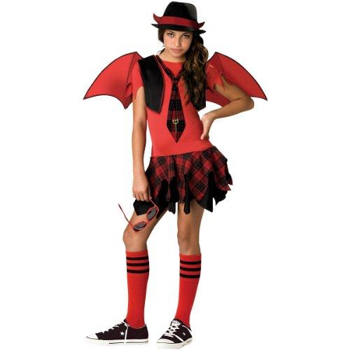 Tween Devil Girl Costume (Delinquent Devil Tween Costume - Small)