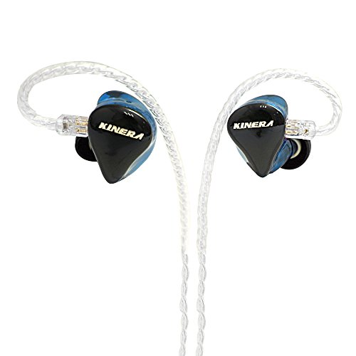 In Ear Monitors Kinera H3 Double Balanced Armatures & One Dynamic Cable Detachable IEM In Ear Earphone (Blue) by Kinera