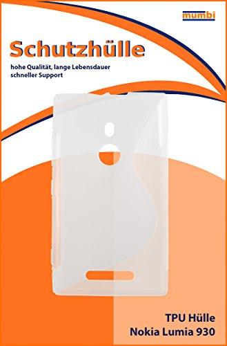 mumbi S-TPU Schutzhülle für Nokia Lumia 925 Hülle transparent weiss LivXNcR
