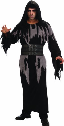 [Rubie's Costume Halloween Sensations Deluxe Hooded Robe, Black, Standard] (Purple Hooded Robe Adult Costumes)