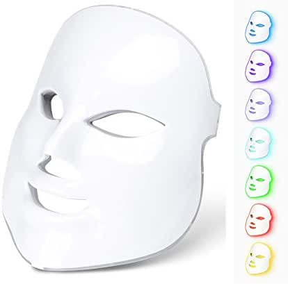 7 Colors Led Light Photon Neon-glowing LED Face Mask Electric Facial Skin Rejuvenation Therapy Face Care