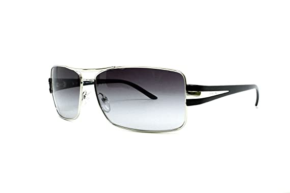 Amazon.com: Prada anteojos de sol spr65h Gray Gradient/plata ...