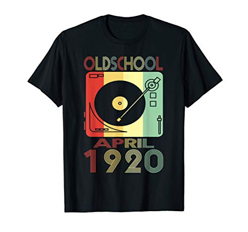 (April 1920 Tshirt 99th Birthday Gift Ideas Men Women Him)