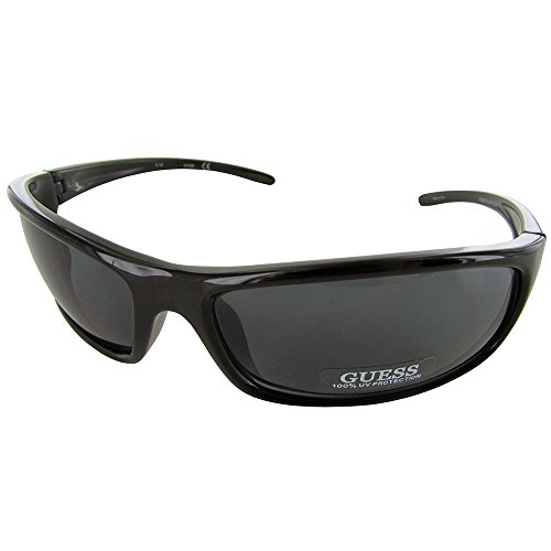 Guess Mens GU6250 Sport Shield Fashion Sunglasses, - Black Guess Sunglasses