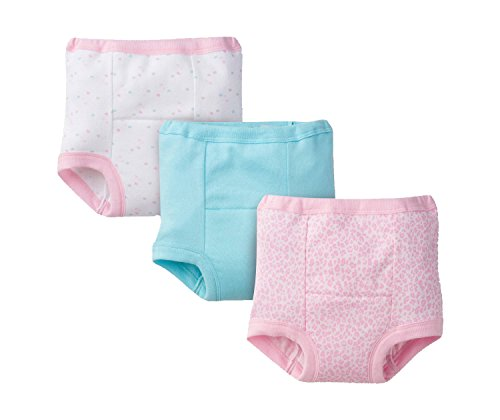 Gerber Baby Toddler Girl Training Pants, Pink Leopard, 3-Pack, 2T