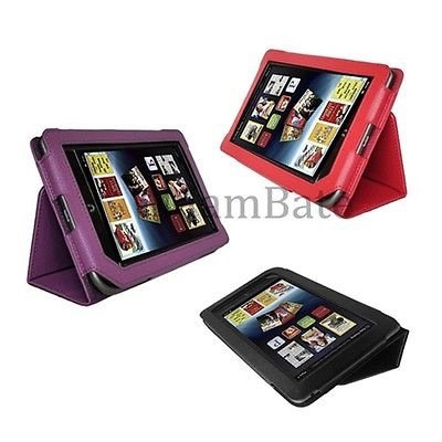 Red Black Purple Leather Case Cover for Barnes Noble Nook Tablet/ Nook Color | Add to watch list