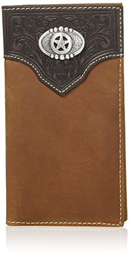 Oval Concho Men's Nocona Star Rodeo Wallet Size One Brown Belt Co wtZtqUXF