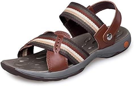 ファッションシューズ スタンダードシューズ 靴メンズファッションサンダルカジュアルパーソナリティステッチ快適なデュアルユースビーチスリッパ レジャーシューズ