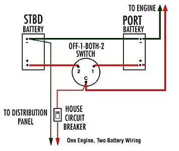 guest battery switch wiring diagram guest image amazon com 12v dual battery isolator kill switch for boat on guest battery switch wiring diagram