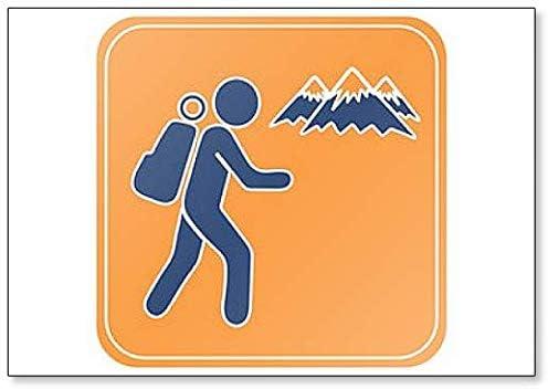 Imán para nevera con ilustración de icono de senderismo: Amazon.es ...