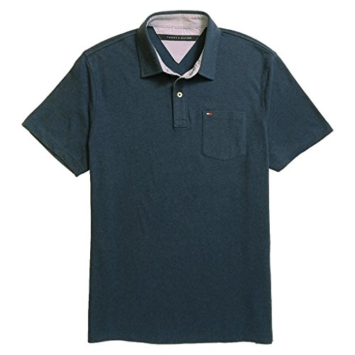 tommy hilfiger mens custom fit solid color polo shirt m