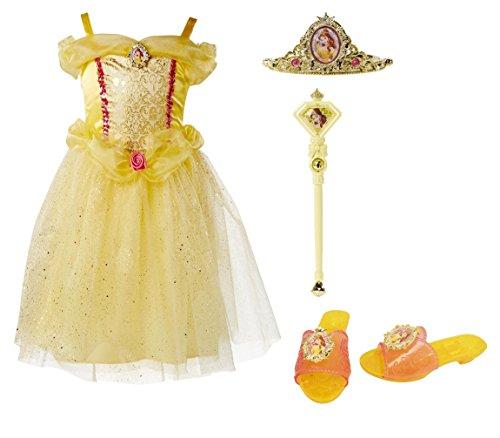 Disney Princess 99036 Belle Tiara to Toes Dress Up Set Costume, -