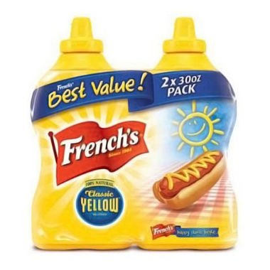 French's Classic Yellow Mustard (30 oz. bottle, 2 ct.)-3 PACKS by French's