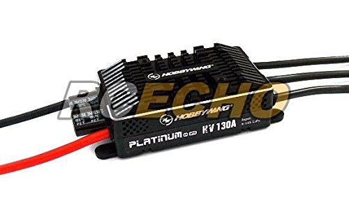 RCECHO® HOBBYWING Platinum 130A HV OPTO V4 RC Brushless Motor ESC Speed Controller SL092 with 174; Full Version Apps Edition