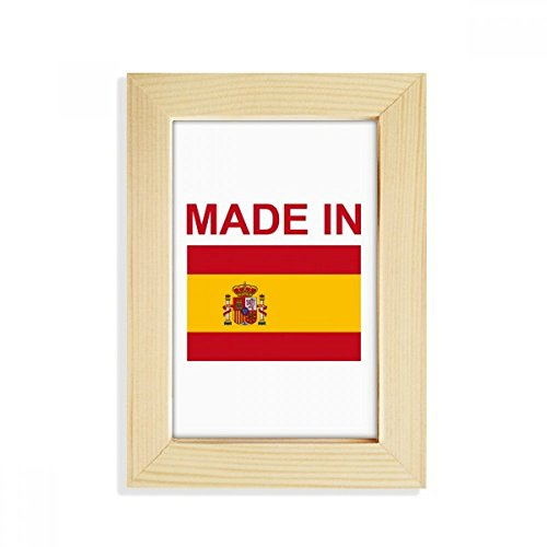 DIYthinker Made In Spain Country Love Desktop Wooden Photo Frame Picture Art Painting 5x7 inch by DIYthinker